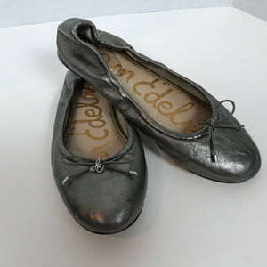 Sam Edelman silver ballet flats size 8.5